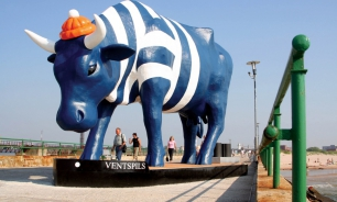 Cow Parade in Ventspils