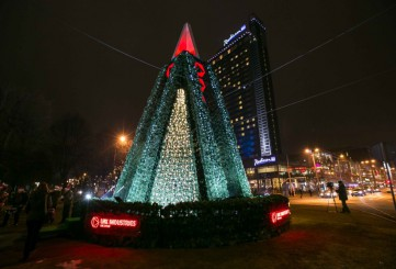 """The """"Way through the Christmas Trees"""" festival in Riga"""