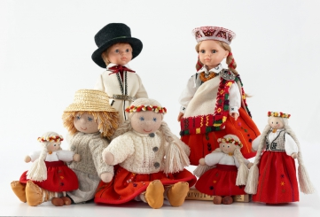Handmade Dolls in Ethnic Costume