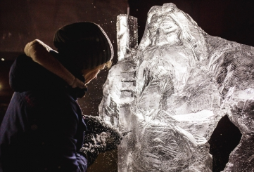 International Ice Sculpture Festival in Jelgava
