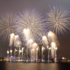 Welcoming the New Year in Riga, with fireworks