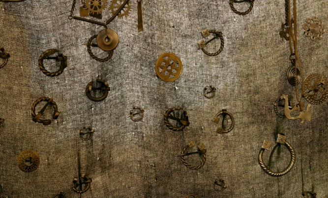 Many different Latvian craftsmen maid brooches.