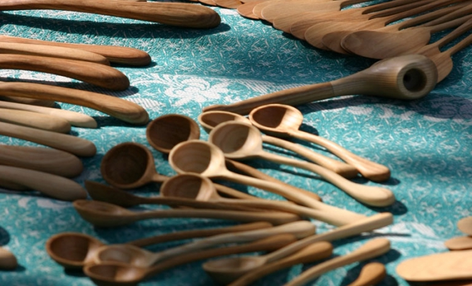 Traditional Latvian craftsmanship – wooden spoons.