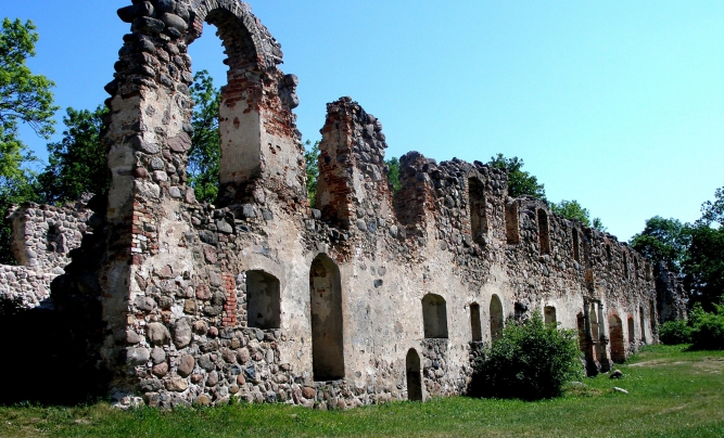 Livonian order Mediaeval palace in Southern Latvia.