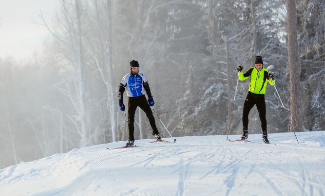 Skiing in Latvia