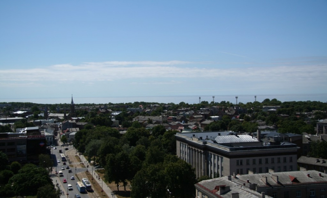 Liepaja panorama from atop the church tower