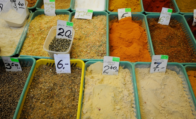 Spices at Riga Central Market