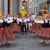 Latvian folk dance group in Old Riga.