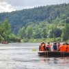 rafting in Gauja river