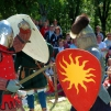 Medieval festival at the castle ruins